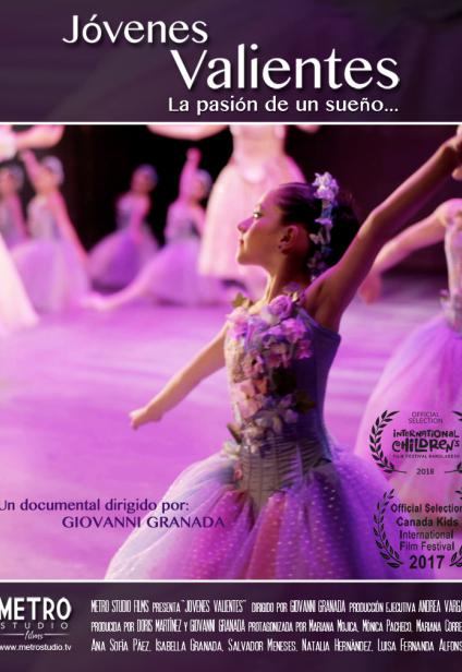 Poster Brave Kids. Young girl dancing. Short film by Metro Studio Films.
