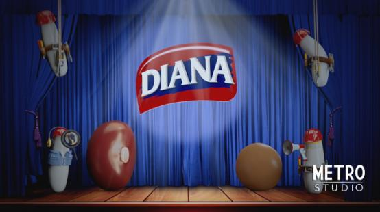 diana beans opening: theater curtain opens